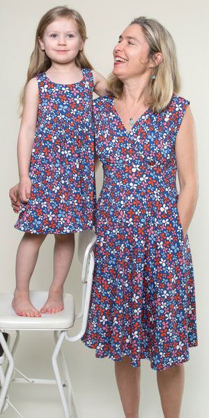 Cali Dress for Girls in Wildflowers by Karina Dresses
