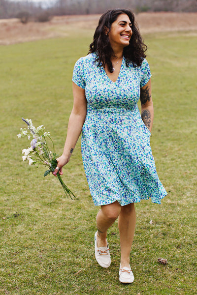 Cece Dress - Sky Meadow
