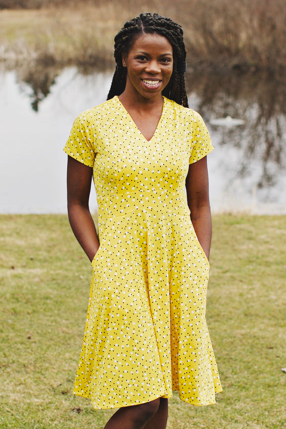 Cece Dress in Daffodil Dots by Karina Dresses