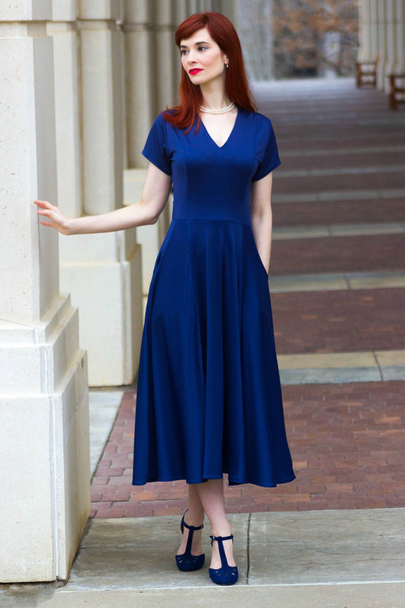 Cecelia Dress - Navy