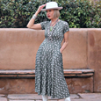 Cecelia Dress in Sage Sprigs by Karina Dresses