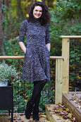 Colleen Dress in Marled Black Knit by Karina Dresses