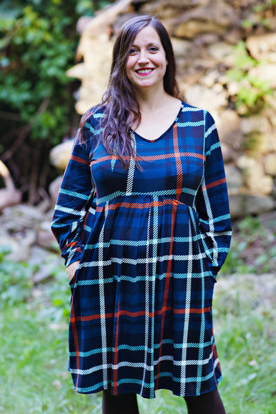 Jess Dress in Brushed Plaid by Karina Dresses