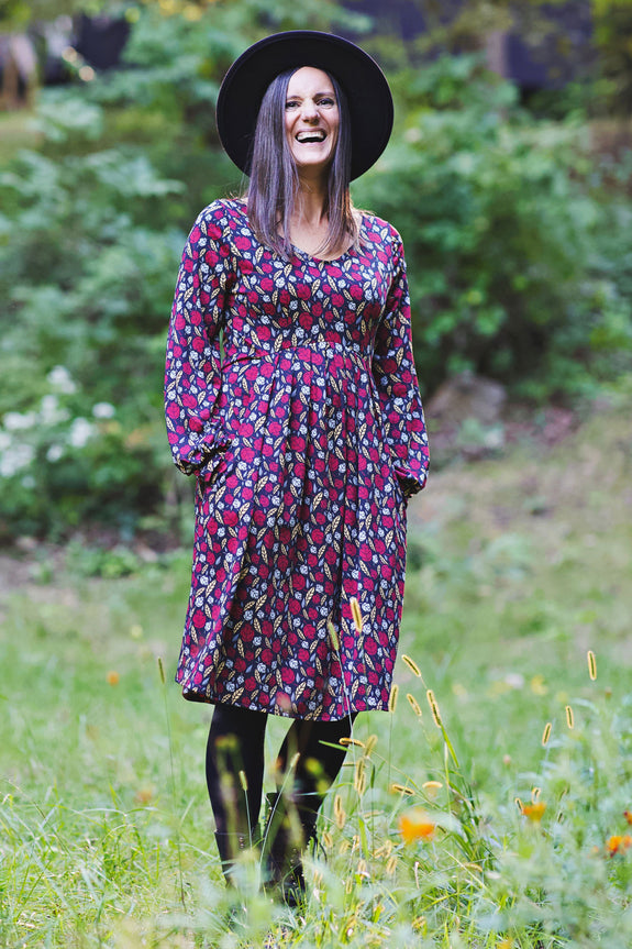 Jess Dress in Falling Leaves by Karina Dresses
