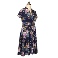 Joan Dress in Blue Blossoms by Karina Dresses