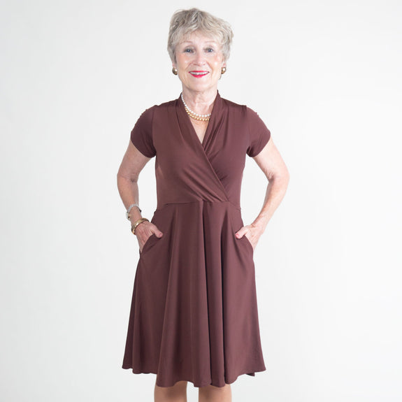Joan Dress in Espresso by Karina Dresses