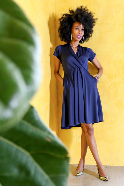 Joan Dress in Navy by Karina Dresses