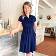 Joan Dress in Solid Navy by Karina Dresses