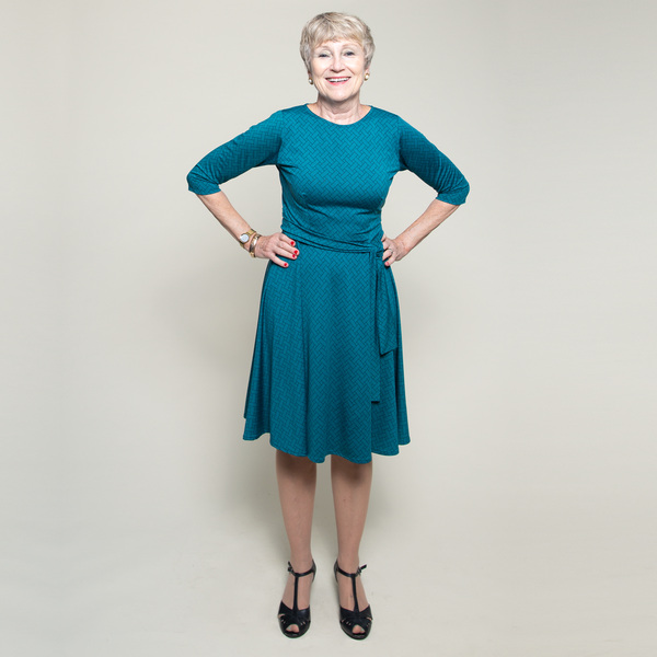 Katharine Dress in Taos Teal by Karina Dresses