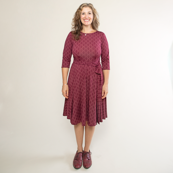 Katharine Dress - Pearls in Wine