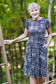 Kate Dress - Digital Plaid