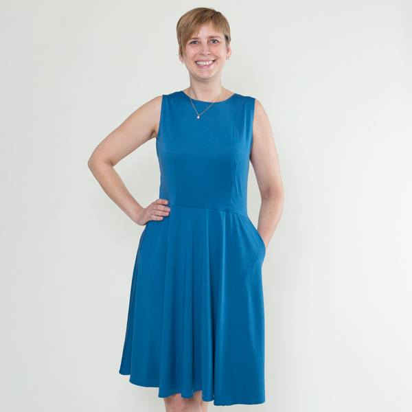 Kate Dress in Ocean by Karina Dresses