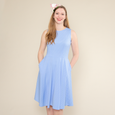 Kate Dress in Forget Me Not Dot by Karina Dresses