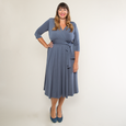 Margaret Dress - Charcoal Gray