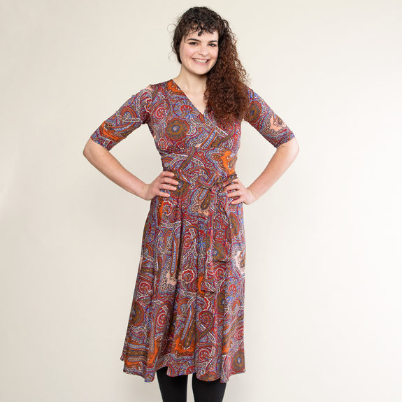 Margaret Dress in Cinnamon Coffee by Karina Dresses