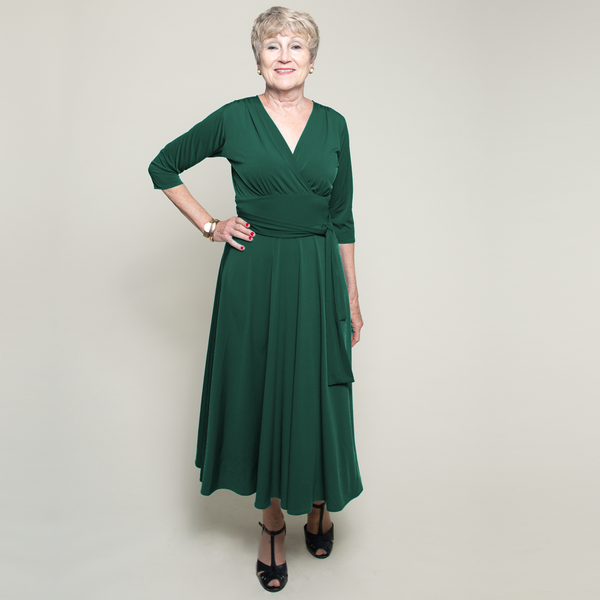 Margaret Dress in Forest Green by Karina Dresses