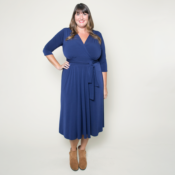 Margaret Dress in Navy by Karina Dresses