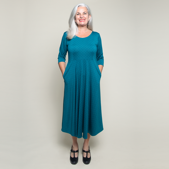 Maria Dress in Taos Teal by Karina Dresses