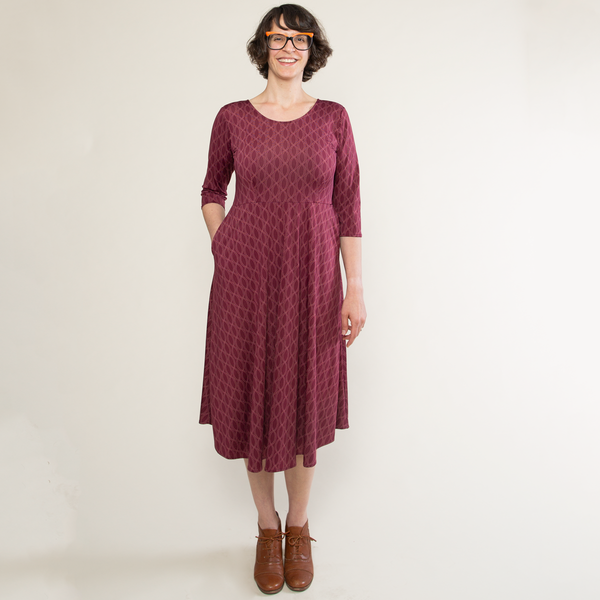 Maria Dress - Pearls in Wine