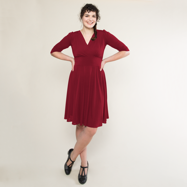 Megan Dress in Crimson by Karina Dresses