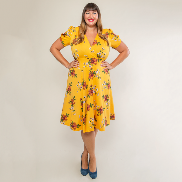 Megan Dress in Golden Days by Karina Dresses