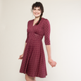 Megan Dress - Pearls in Wine