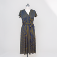Margaret Dress in Navy with Gold Polka Dot by Karina Dresses