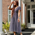 Margaret Dress in Cool Beans by Karina Dresses