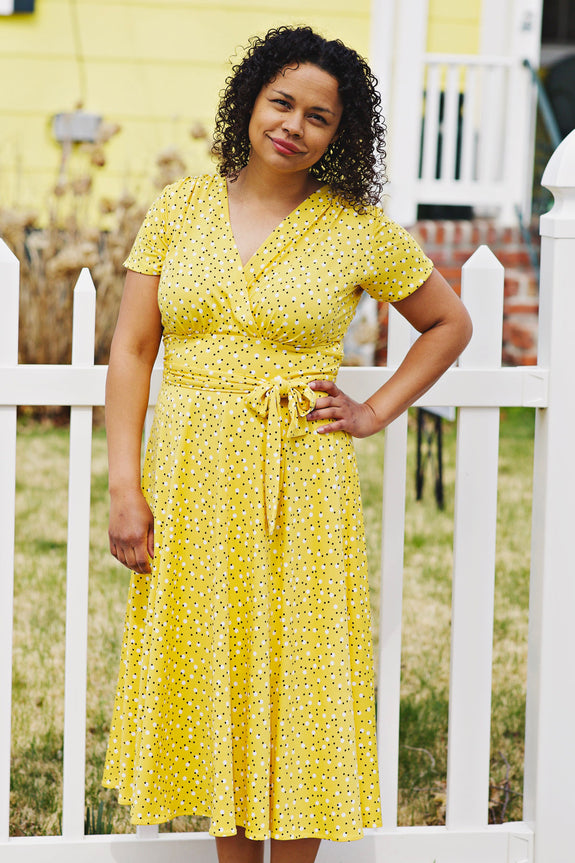Margaret Dress in Daffodil Dots by Karina Dresses