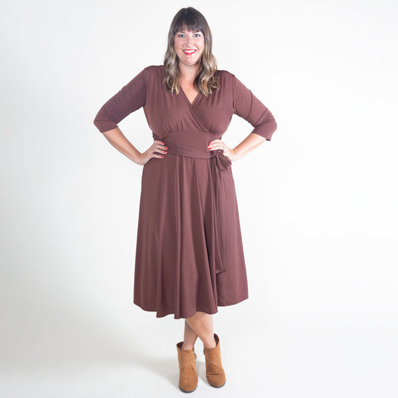 Margaret Dress in Espresso by Karina Dresses