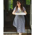 Margaret Dress - Navy and White Gingham