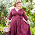 Margaret Dress in Pearls in Wine by Karina Dresses