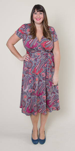 Margaret Dress in Pink Paisley