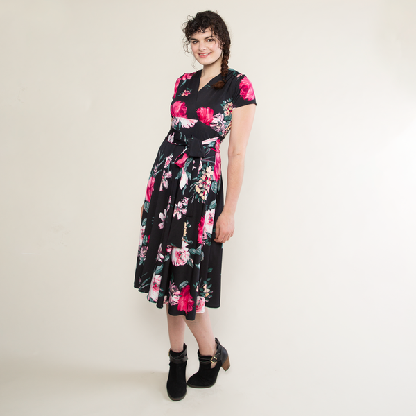 Margaret Dress in Pink Peony by Karina Dresses