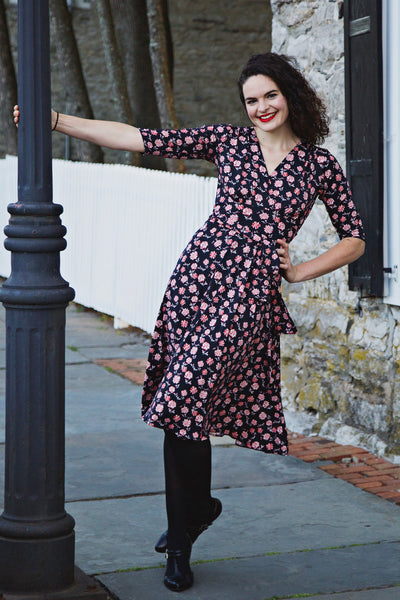 Margaret Dress in Red Carnation by Karina Dresses
