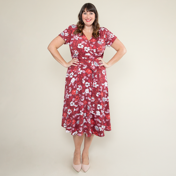 Margaret Dress in Hello Hibiscus by Karina Dresses
