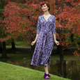 Margaret Dress in Twilight Garden by Karina Dresses