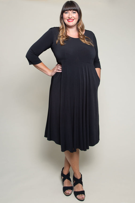 Maria Dress in Black by Karina Dresses