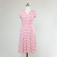 Megan Dress - Pink Flamingos