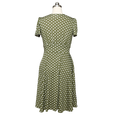 Megan Dress in Olive Polka Dot by Karina Dresses