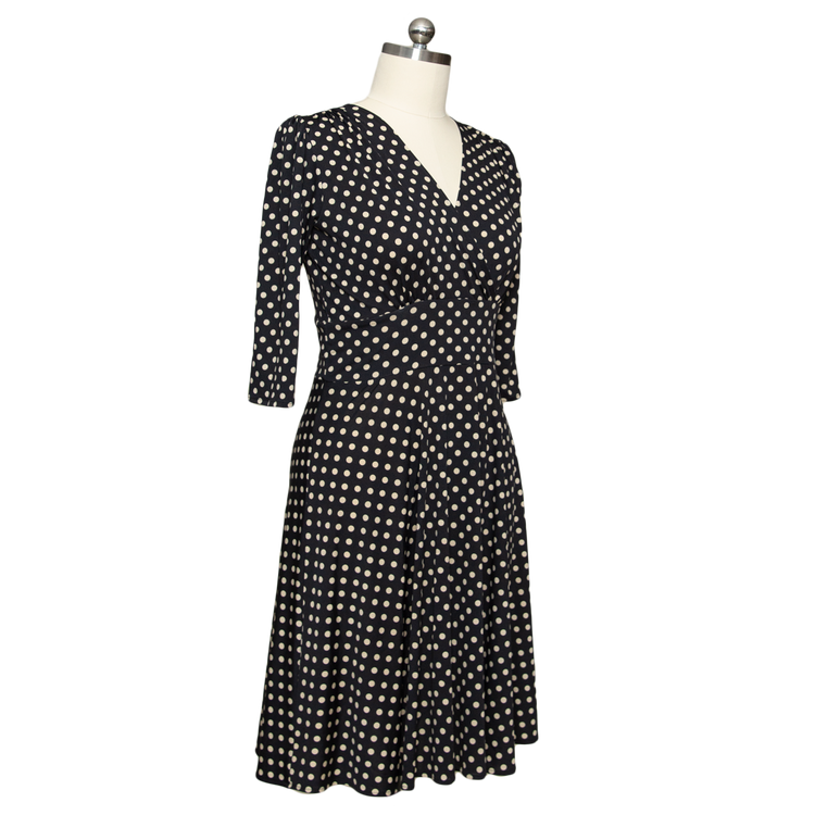 1930s Art Deco Plus Size Dresses | Tea Dresses, Party Dresses Megan Dress - Power Polka Dot $108.00 AT vintagedancer.com