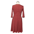 Megan Dress in Wine Deco Squares by Karina Dresses