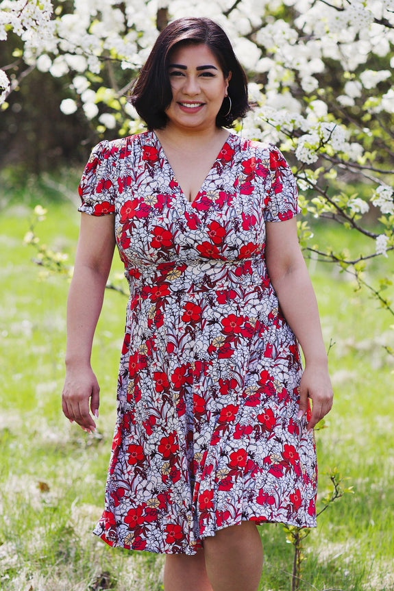 1950s Plus Size Dresses, Swing Dresses Megan Dress - Aloha $108.00 AT vintagedancer.com