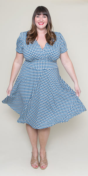 Megan Dress in Blue Moon