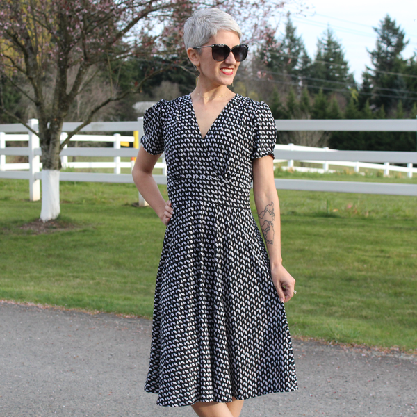 Megan Dress in Cool Beans by Karina Dresses