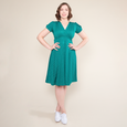 Megan Dress in Jade Dot by Karina Dresses