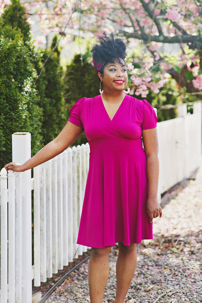 Megan Dress in Magenta by Karina Dresses
