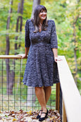 Megan Dress in Marled Black Knit by Karina Dresses