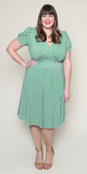 Megan Dress in Mint Maritime Modern