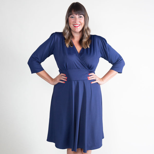 Megan Dress in Navy by Karina Dresses
